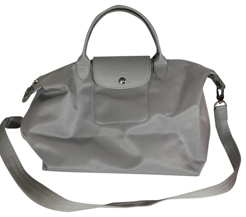 13e131d647 Longchamp 'medium Le Pliage Neo' Top Handle Light Gray Nylon Tote ...