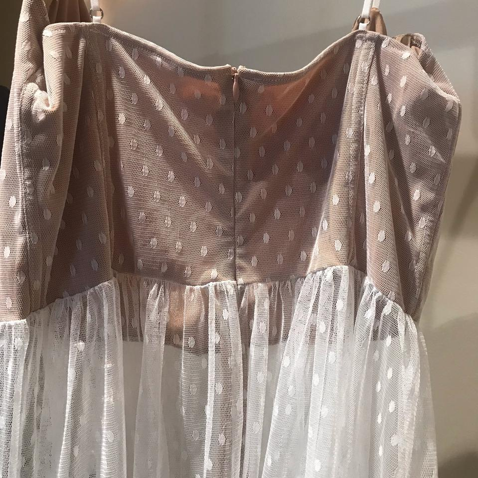 631627c082d1d Nude and White Totally Bangin Mesh Long Casual Maxi Dress Size 16 ...