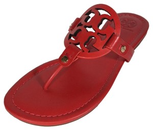 506d19b640a Tory Burch Poppy Orange Miller Sandals Size US 7.5 Regular (M