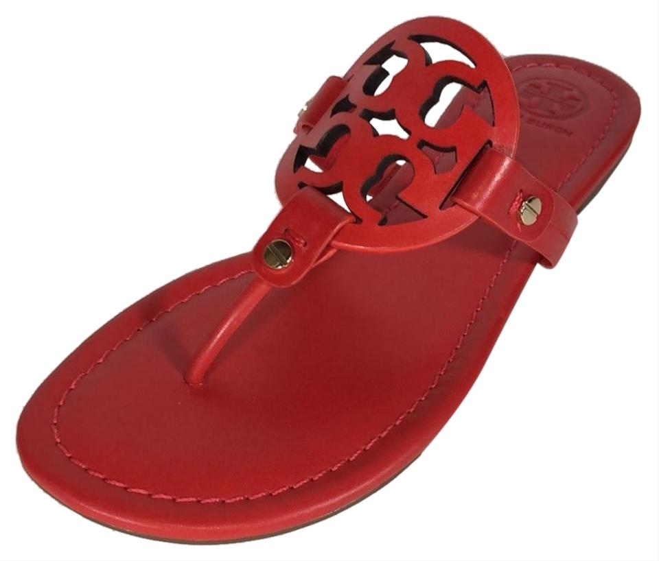 5805fb64c1b Tory Burch Poppy Orange Miller Sandals. Size  US 7.5 Regular (M ...