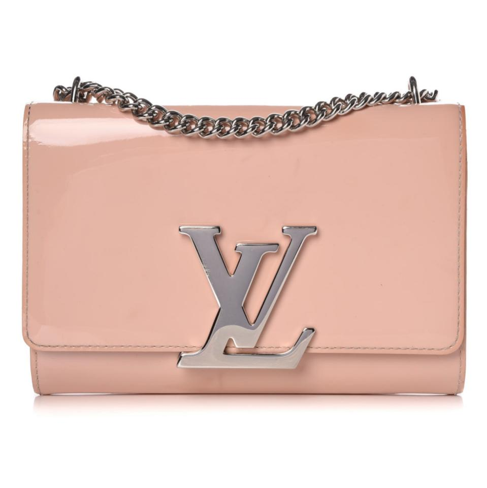 39b8f606376 Louis Vuitton Louise Mm Lv Vernis Rose Ballerine Chain Pink Patent Leather  Cross Body Bag