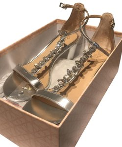 Badgley Mischka silver Platforms