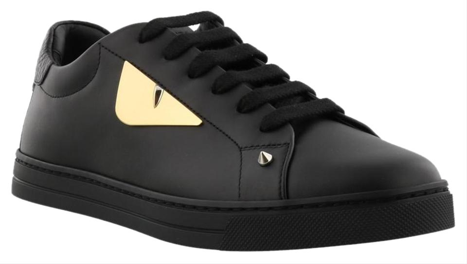 bfaa30a0ba Fendi Black New Women Leather Gold Eyes Logo Sneakers Size EU 36.5 (Approx.  US 6.5) Regular (M, B) 23% off retail