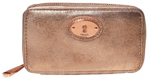 Fossil Leather Rose Gold Travel Bag
