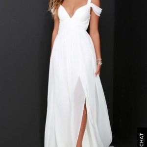 3e7d223e570 Lulu s Ivory Lulu Bariano Ocean Of Elegance Maxi Casual Wedding Dress Size  16 (