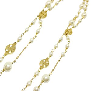 Tory Burch Tory Burch Evie Ivory Convertible Rosary Pearl Station Necklace 16k GP