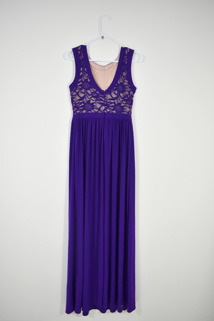Morgan & Co Lace Gown Prom Maxi Sleeveless Dress Image 3
