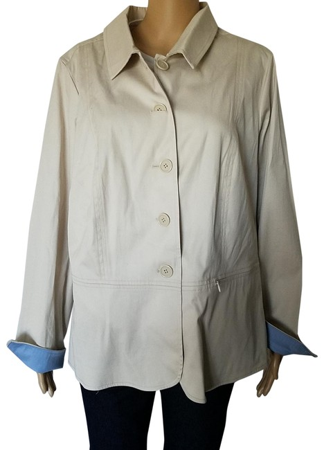 Venezia by Lane Bryant Beige Neutral Jacket Size 18 (XL, Plus 0x) Venezia by Lane Bryant Beige Neutral Jacket Size 18 (XL, Plus 0x) Image 1