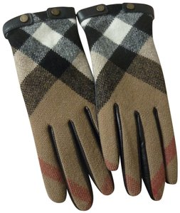 Burberry Burberry Check Jenny Touch Leather/Wool Sz. 7 Gloves