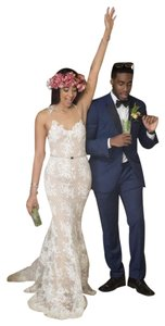 Inbal Dror Couture Lace Sweetheart Fitted Dress