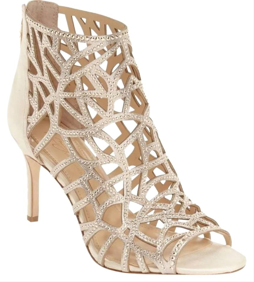 6cb186a15728 Imagine by Vince Camuto Gold Parker Embellished Caged Bootie Sandals ...