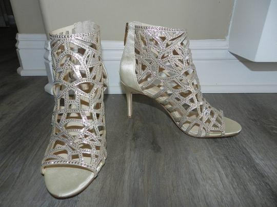 Imagine by Vince Camuto Bootie Caged Gold Sandals Image 1
