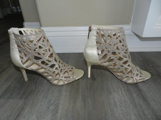 Imagine by Vince Camuto Bootie Caged Gold Sandals Image 2