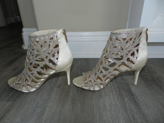 Imagine by Vince Camuto Bootie Caged Gold Sandals Image 5