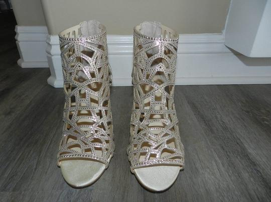 Imagine by Vince Camuto Bootie Caged Gold Sandals Image 6