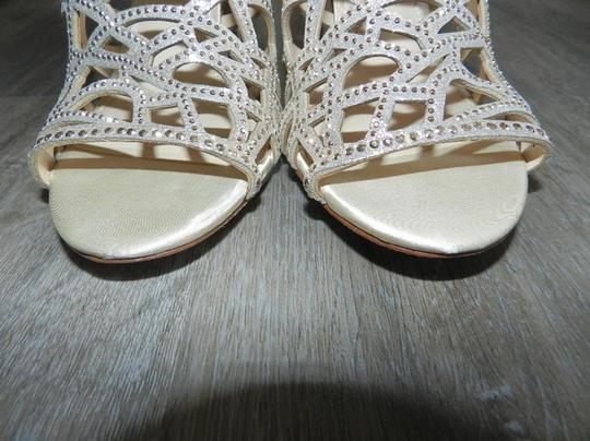 Imagine by Vince Camuto Bootie Caged Gold Sandals Image 8