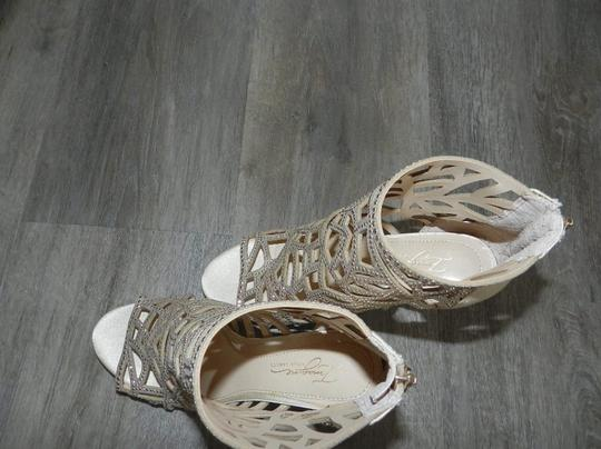 Imagine by Vince Camuto Bootie Caged Gold Sandals Image 9