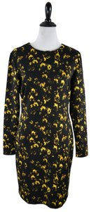 Theory Floral Longsleeve Stretchy Polyester Flower Dress