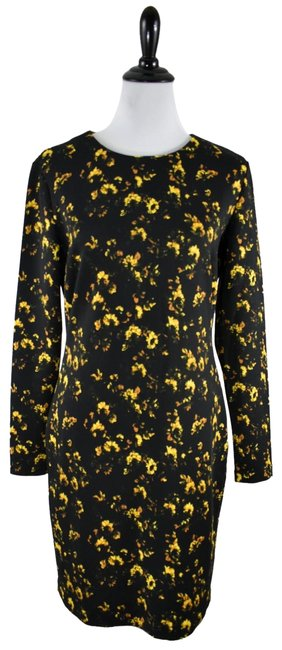 Preload https://img-static.tradesy.com/item/24632371/theory-black-yellow-floral-long-sleeve-large-short-cocktail-dress-size-12-l-0-1-650-650.jpg