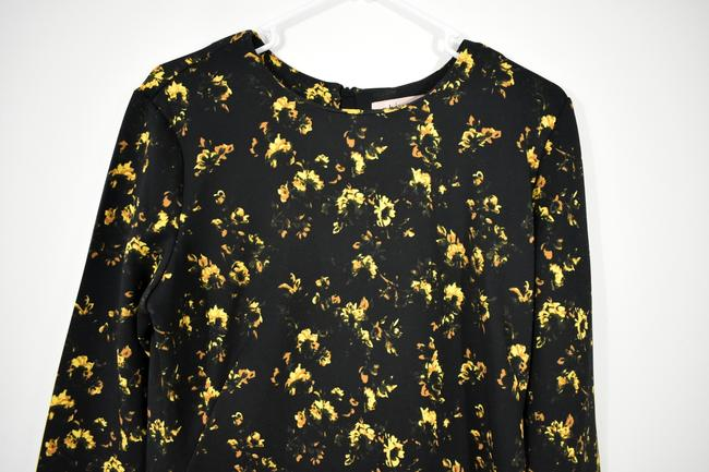 Theory Floral Longsleeve Stretchy Polyester Flower Dress Image 4