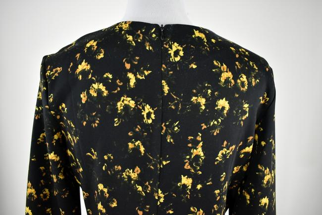 Theory Floral Longsleeve Stretchy Polyester Flower Dress Image 5