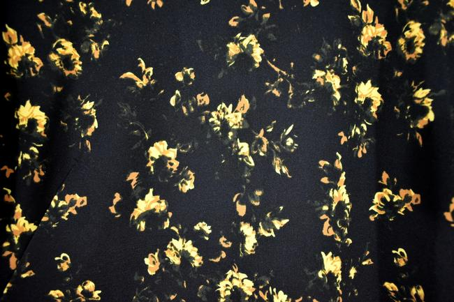 Theory Floral Longsleeve Stretchy Polyester Flower Dress Image 6