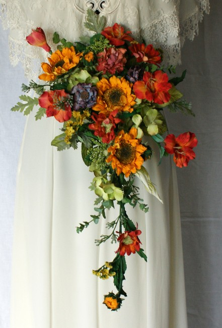 Bright and Colorful Silk Bridal Bouquet Ceremony Decoration Bright and Colorful Silk Bridal Bouquet Ceremony Decoration Image 1