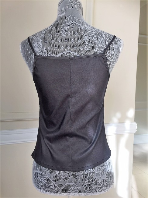 Gerard Feraud Crystal Embroidered Sleeveless Date Top Gunmetal Image 3