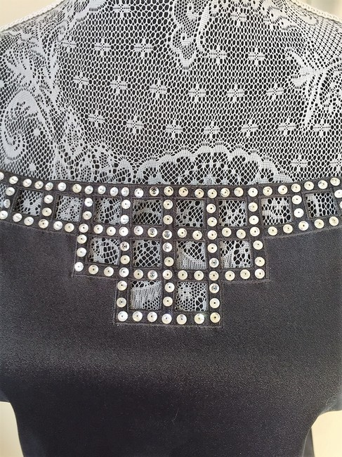 Gerard Feraud Crystal Embroidered Sleeveless Date Top Gunmetal Image 4