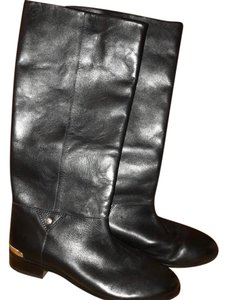 Cynthia Vincent Black Leather Boots
