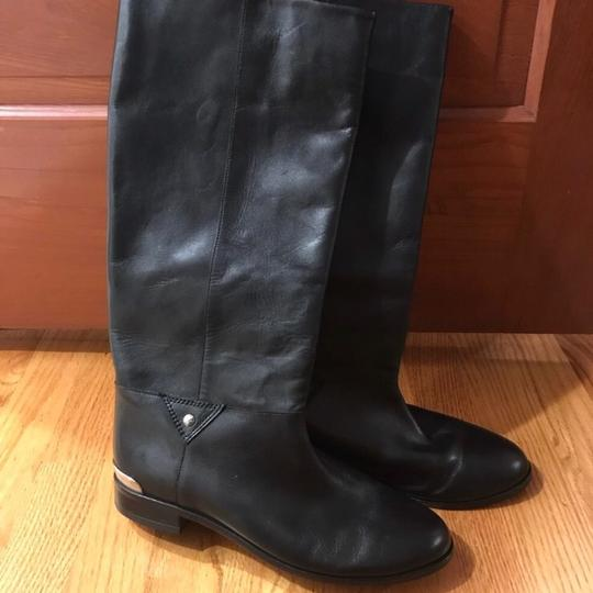 Cynthia Vincent Black Leather Boots Image 1