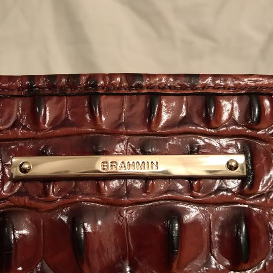 Brahmin Purse Handbag Tote Cross Body Shoulder Satchel in Brown Gold Image 4