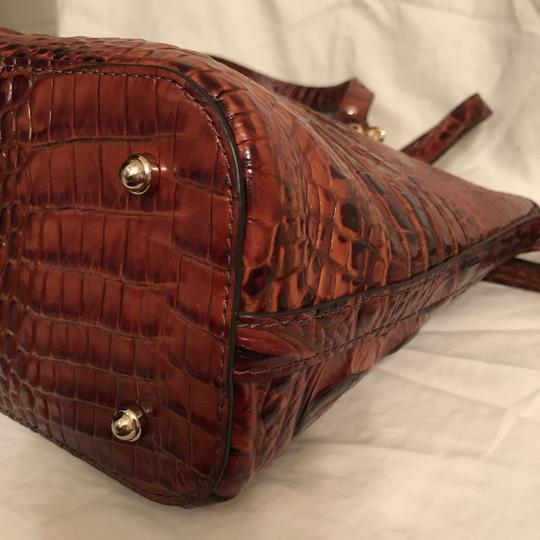 Brahmin Purse Handbag Tote Cross Body Shoulder Satchel in Brown Gold Image 7