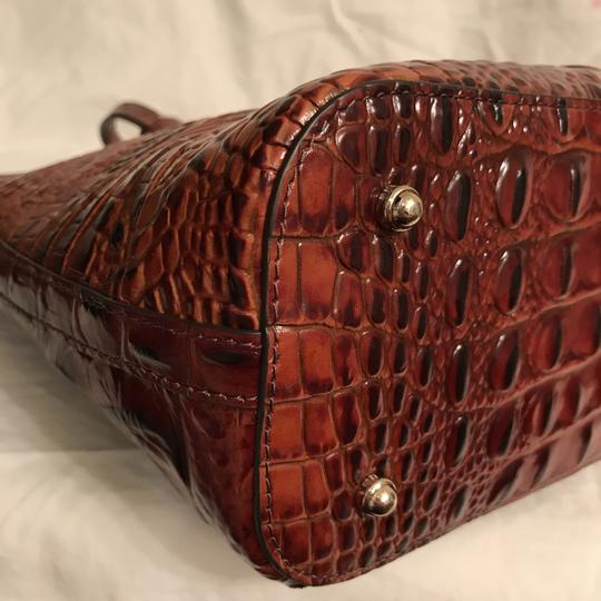 Brahmin Purse Handbag Tote Cross Body Shoulder Satchel in Brown Gold Image 8