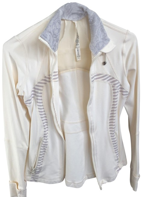 Item - Cream with Gray and Cream Stripe Detail T3 Activewear Size 6 (S)