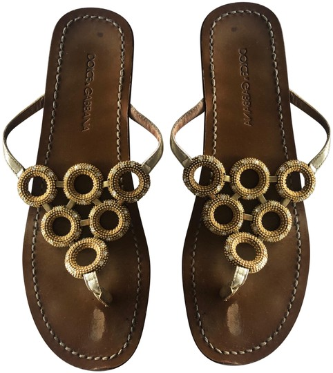 Preload https://img-static.tradesy.com/item/24632619/dolce-and-gabbana-gold-jeweled-sandals-size-eu-36-approx-us-6-regular-m-b-0-1-540-540.jpg