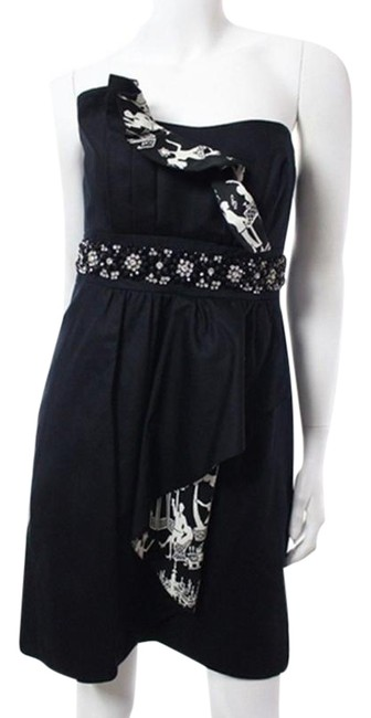 Preload https://img-static.tradesy.com/item/24632622/lilly-pulitzer-black-and-white-late-night-toile-strapless-ruffle-w-jewels-short-cocktail-dress-size-0-1-650-650.jpg