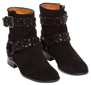 Frye Suede Studded Black Boots