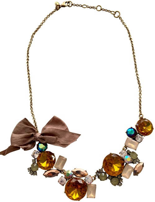 J.Crew Multicolor Crystal with Bow Necklace J.Crew Multicolor Crystal with Bow Necklace Image 1