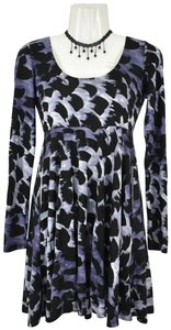 A|X Armani Exchange short dress A-line Skater Longsleeve Print Keyhole on Tradesy