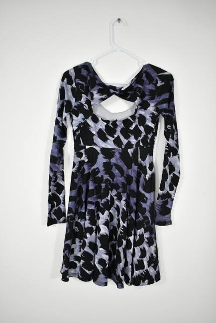 A|X Armani Exchange short dress A-line Skater Longsleeve Print Keyhole on Tradesy Image 3