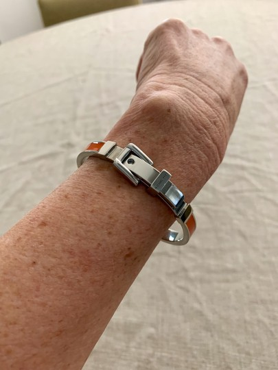 Michael Kors Bright orange and silver buckle bracelet Image 1