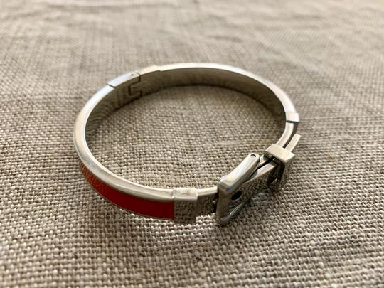 Michael Kors Bright orange and silver buckle bracelet Image 3