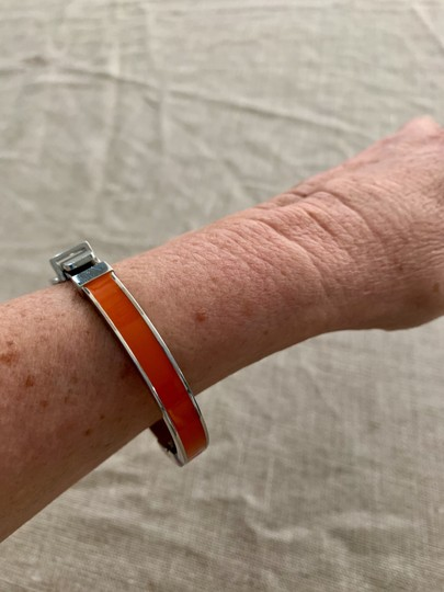 Michael Kors Bright orange and silver buckle bracelet Image 4