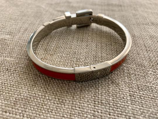 Michael Kors Bright orange and silver buckle bracelet Image 6