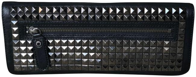 BCBGMAXAZRIA Studded Black Leather Clutch BCBGMAXAZRIA Studded Black Leather Clutch Image 1