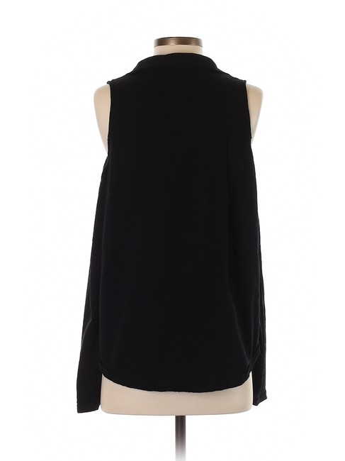 ROI Cold Shoulder Cotton Open Shoulder Active Top Black Image 5