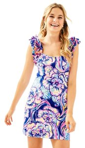Lilly Pulitzer short dress Ruffle Nautical Preppy Sundress on Tradesy