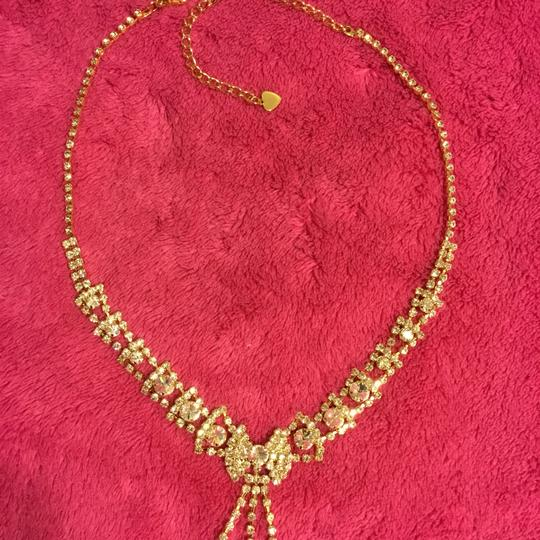 Gold Rhinestone Couture Jewelry Set Image 1
