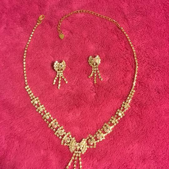 Gold Rhinestone Couture Jewelry Set Image 4